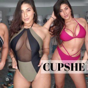 CUPSHE SWIMSUIT REVIEW - BIKINI HAUL - BIKINI TRY ON 2018 - affordable bikinis